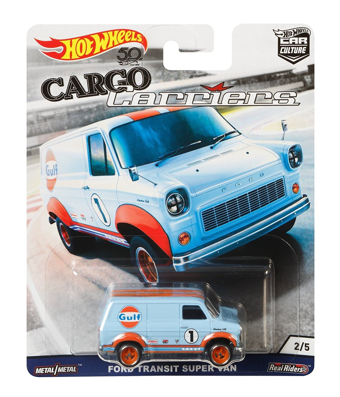 Hot Wheels Cargo Carriers Ford Transit Super Van 164 Die Cast Car 25