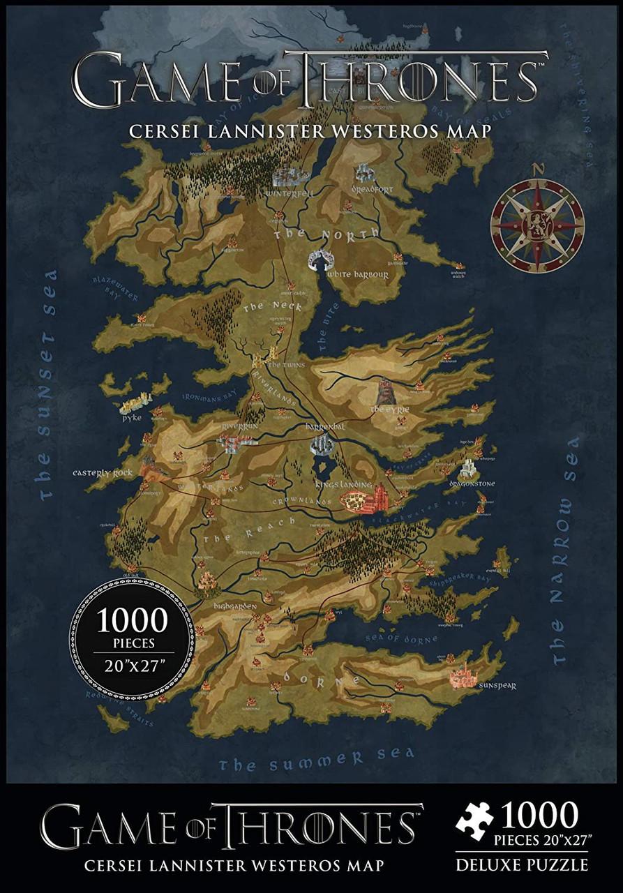Game Of Thrones Cerseis Westeros Map 27 Puzzle Dark Horse