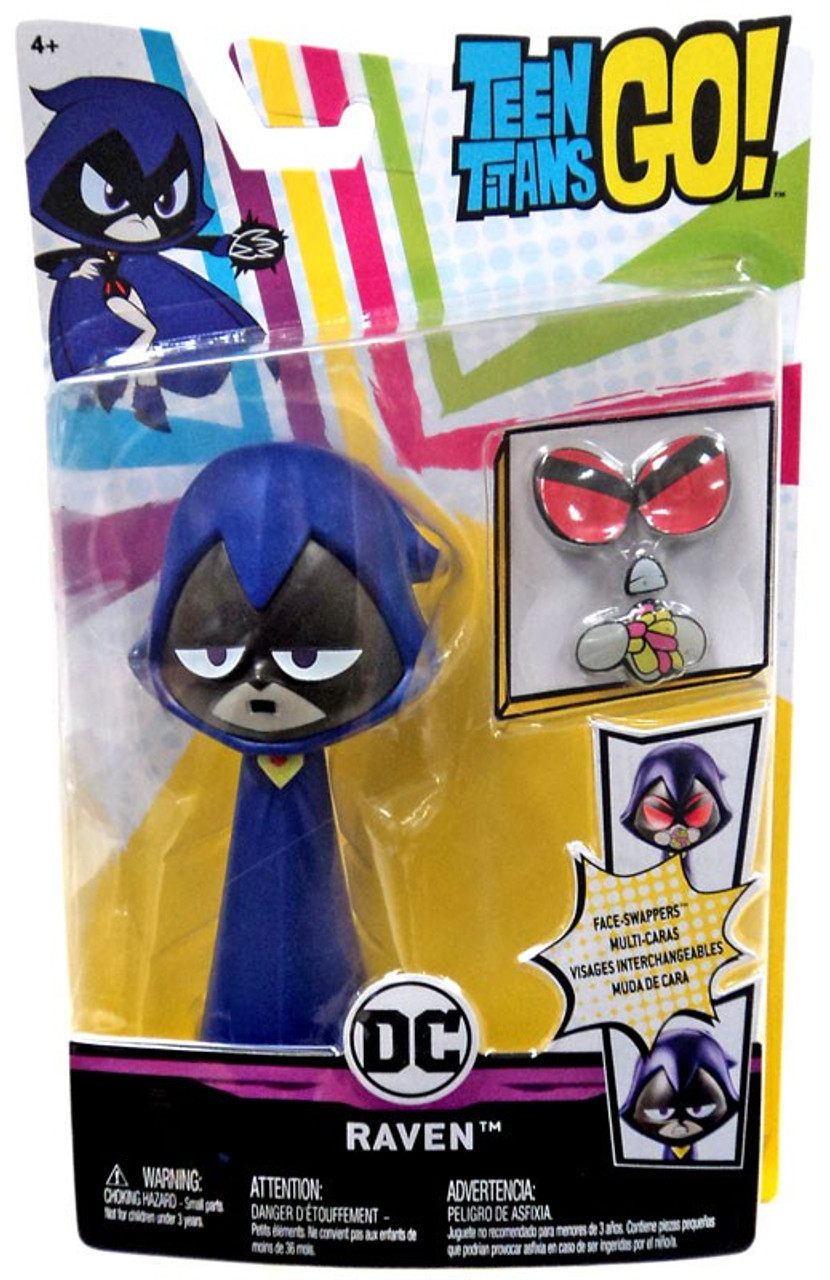 Teen Titan Character Toys : Teen titans go face swappers raven action figure mattel