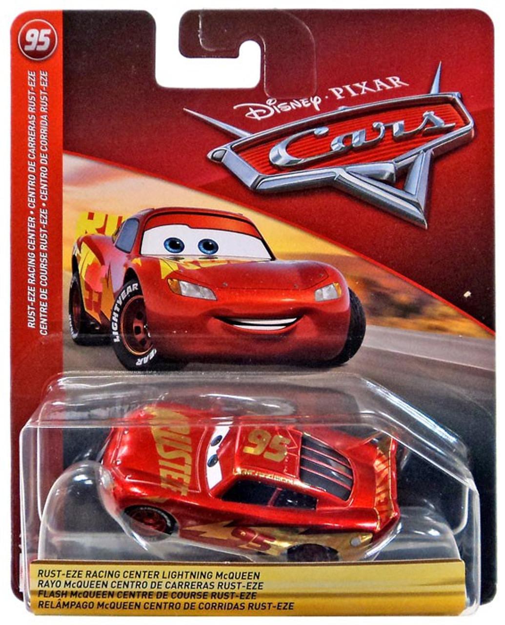 disney pixar cars cars 3 rust eze racing center lightning mcqueen 155 diecast car no card mattel. Black Bedroom Furniture Sets. Home Design Ideas