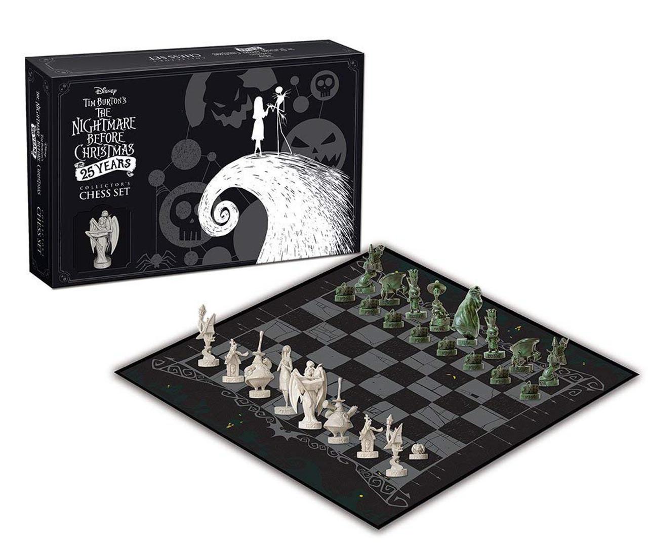Nightmare Before Christmas NBX 25th Anniversary Chess Set