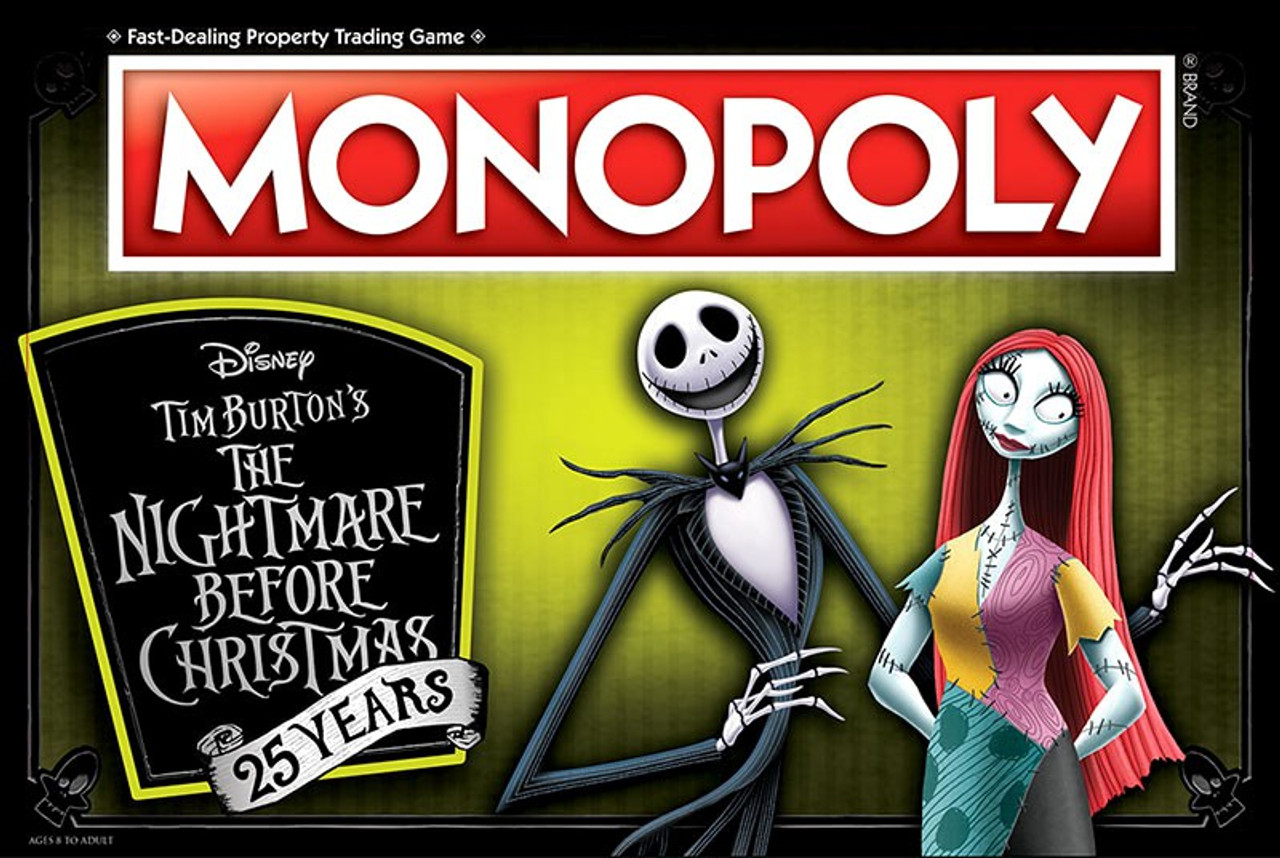nightmare before christmas monopoly nbx 25th anniversary board game - Nightmare Before Christmas Board Game