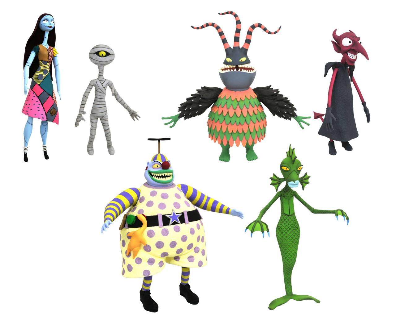 Nightmare Before Christmas Select Series 6 Sally, Clown Harlequin ...