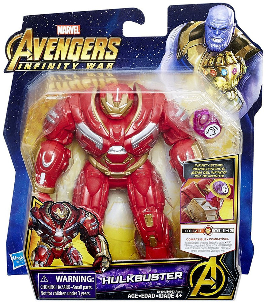 marvel avengers infinity war hulkbuster action figure with stone