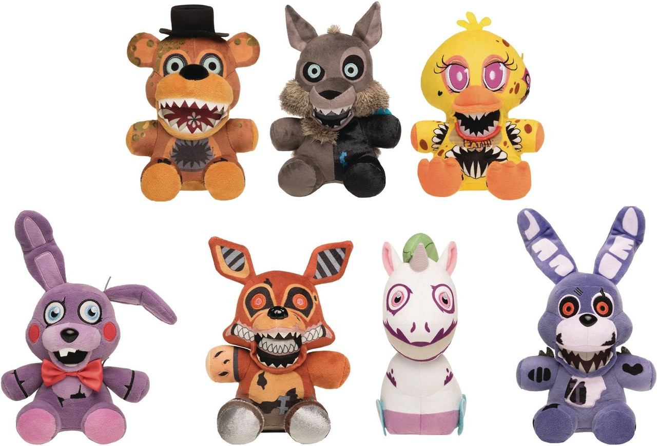 funko five nights at freddys twisted ones set of 7 plushies toywiz