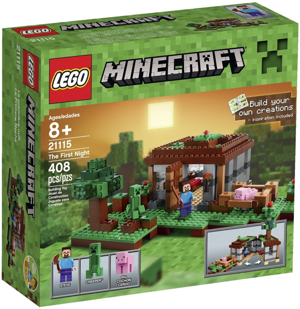 Lego Minecraft The First Night Set 21115 Damaged Package Toywiz 21132 Jungle Temple