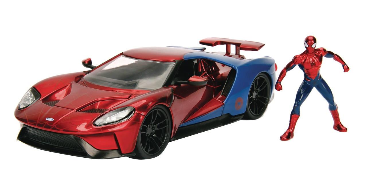 Marvel Spider Man  Ford Gtcast Vehicle Action Figure