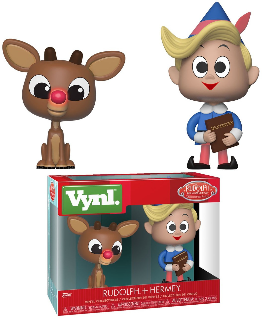 funko rudolph the red nosed reindeer vynl rudolph hermey vinyl