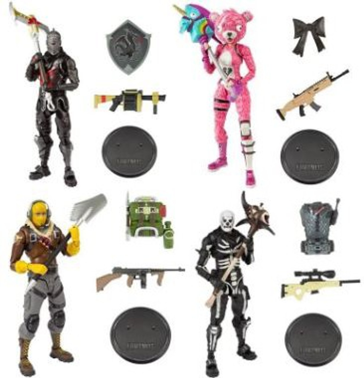 Mcfarlane Toys Fortnite Series 1 Raptor Cuddle Team Leader Black