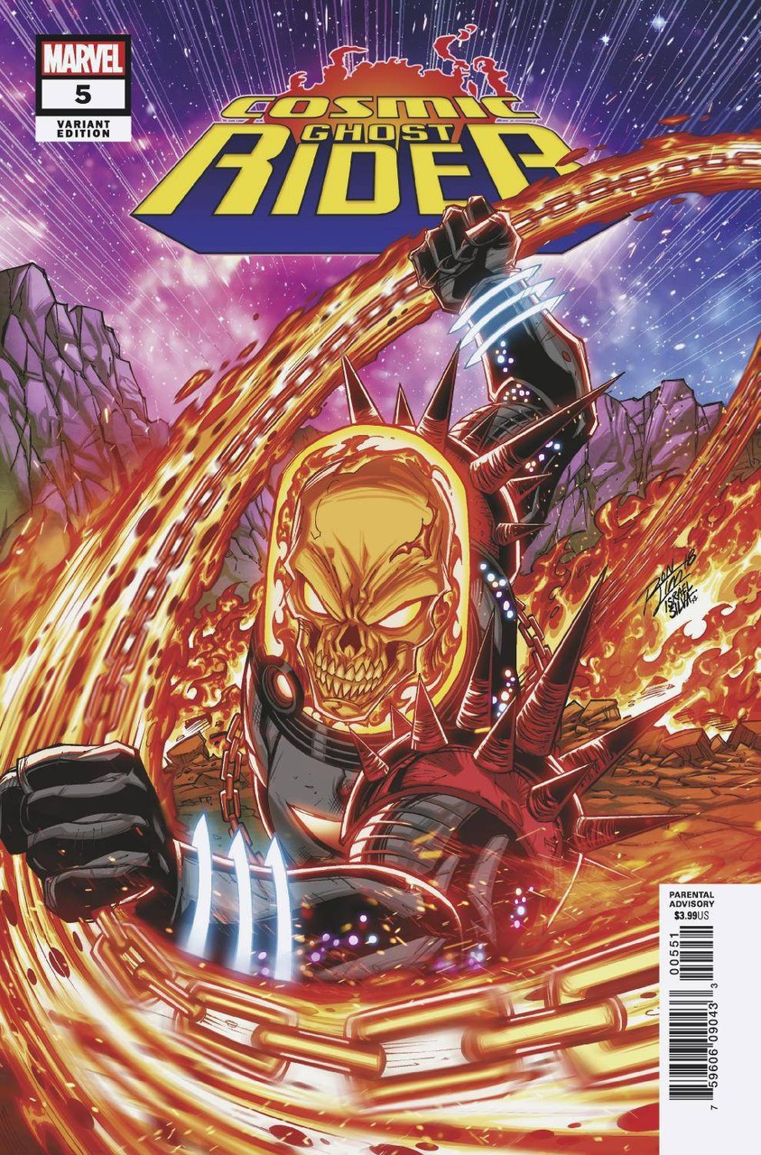marvel cosmic ghost rider comic book 5 of 5 ron lim variant cover
