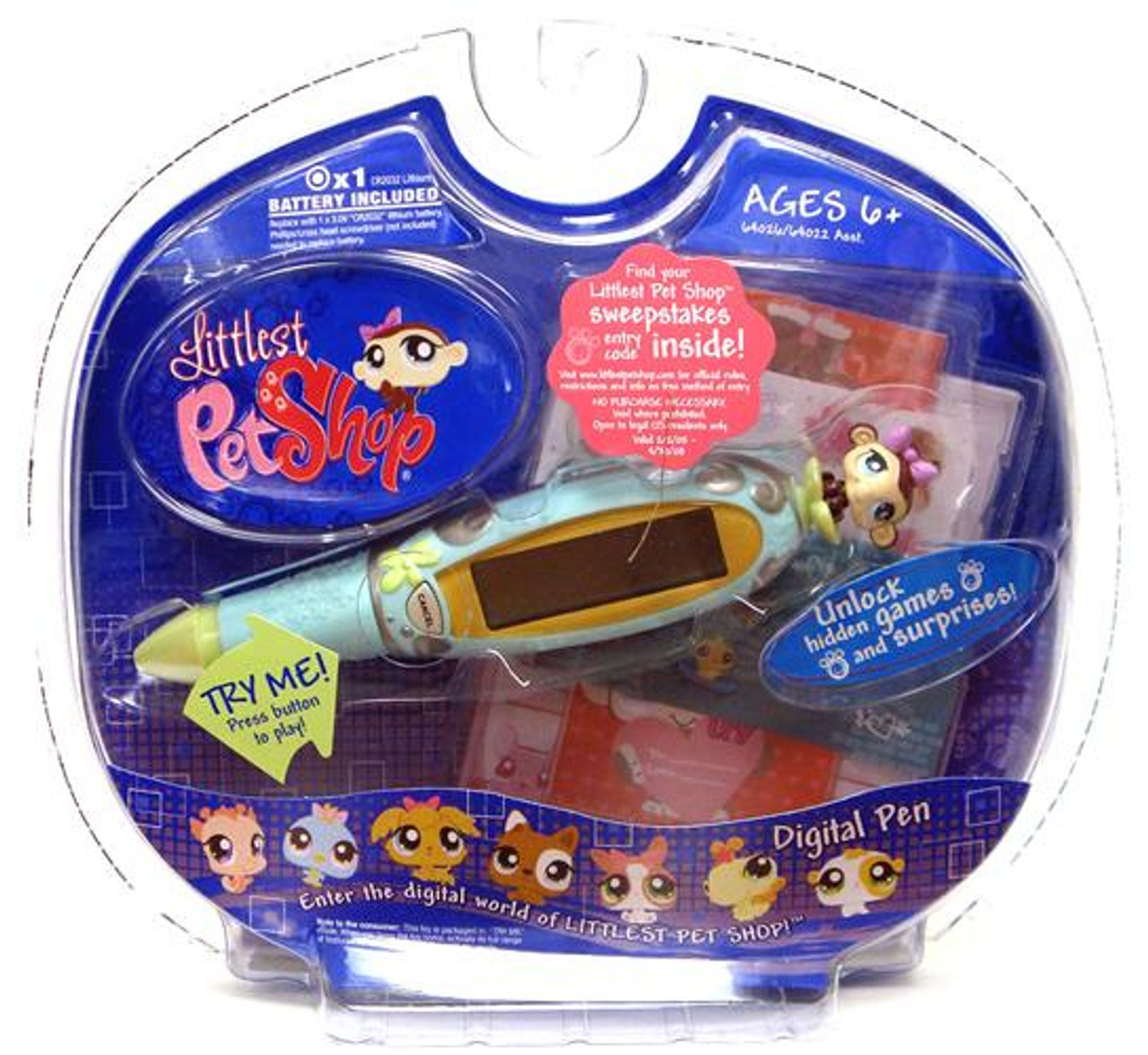Littlest Pet Shop Digital Pets Monkey Digital Pen