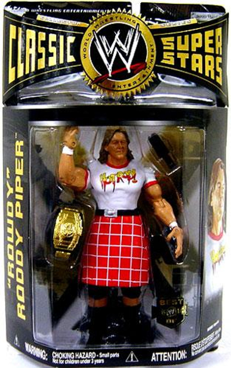 WWE Wrestling Classic Superstars Exclusives Rowdy Roddy Piper Exclusive Action Figure