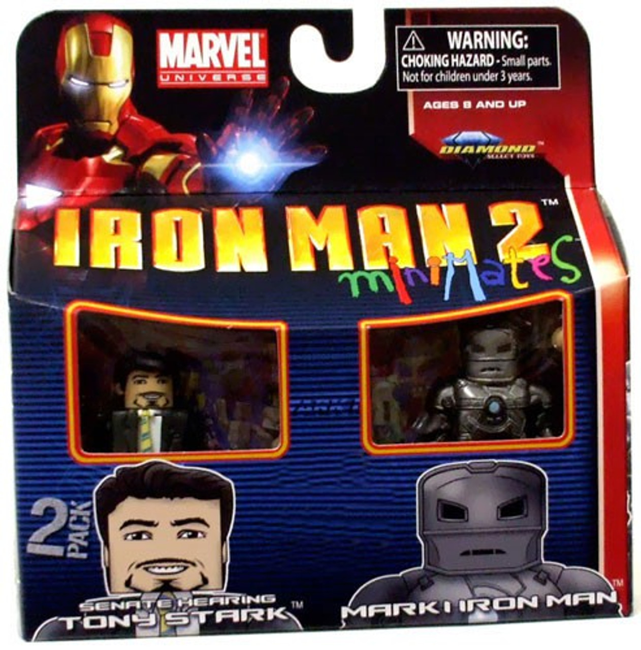 Marvel Universe Minimates Iron Man 2 Senate Hearing Tony Stark & Mark I Iron Man Exclusive Minifigure 2-Pack