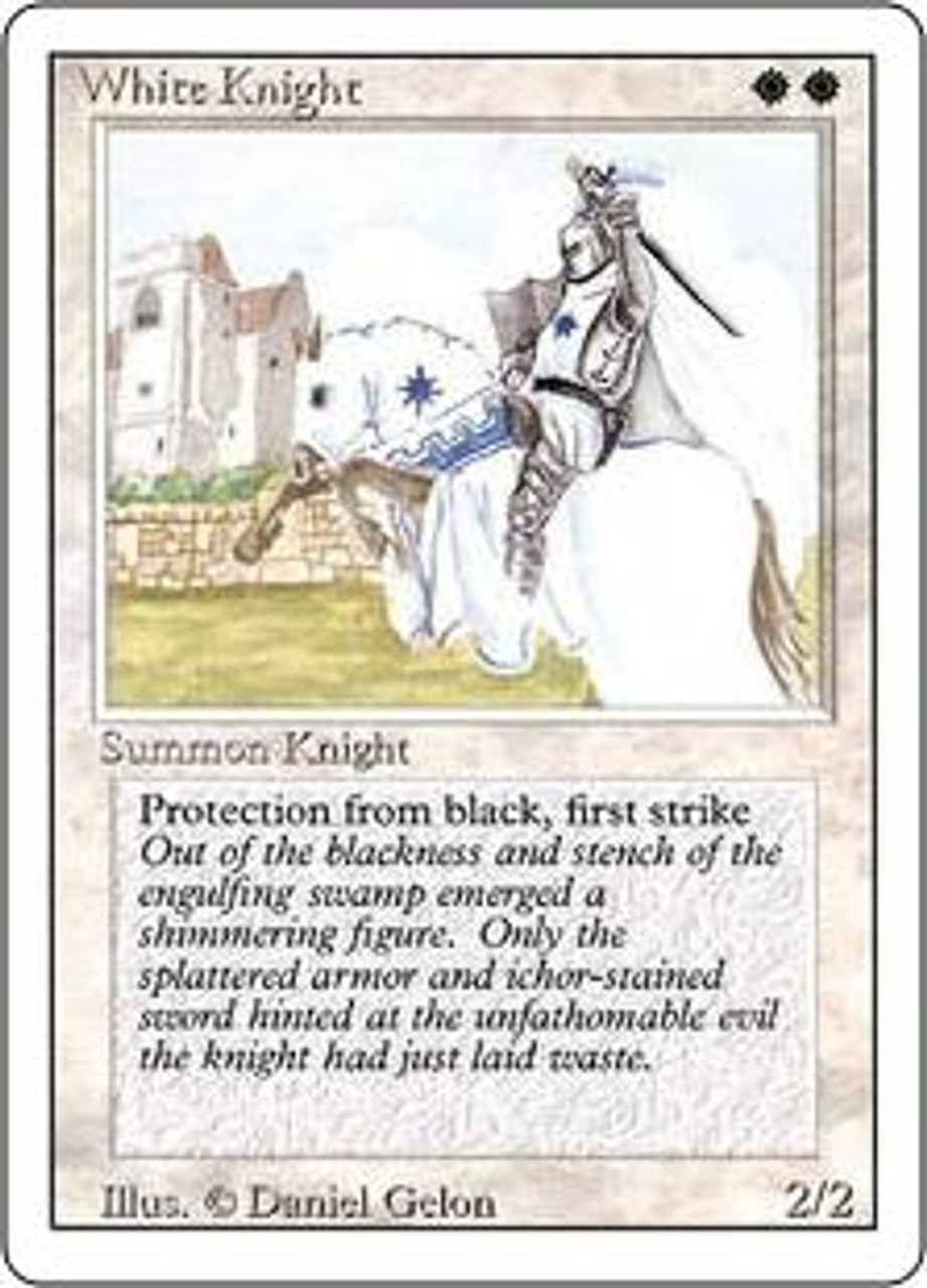 MtG Revised Uncommon White Knight [Played Condition]