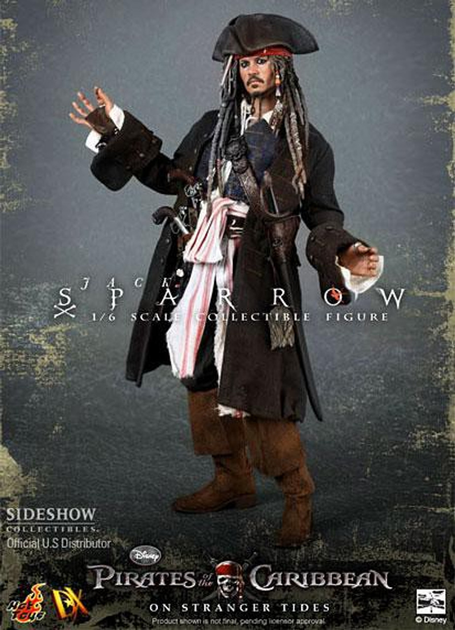 Pirates of the Caribbean On Stranger Tides Movie Masterpiece Deluxe Jack Sparrow 1/6 Collectible Figure DX-06