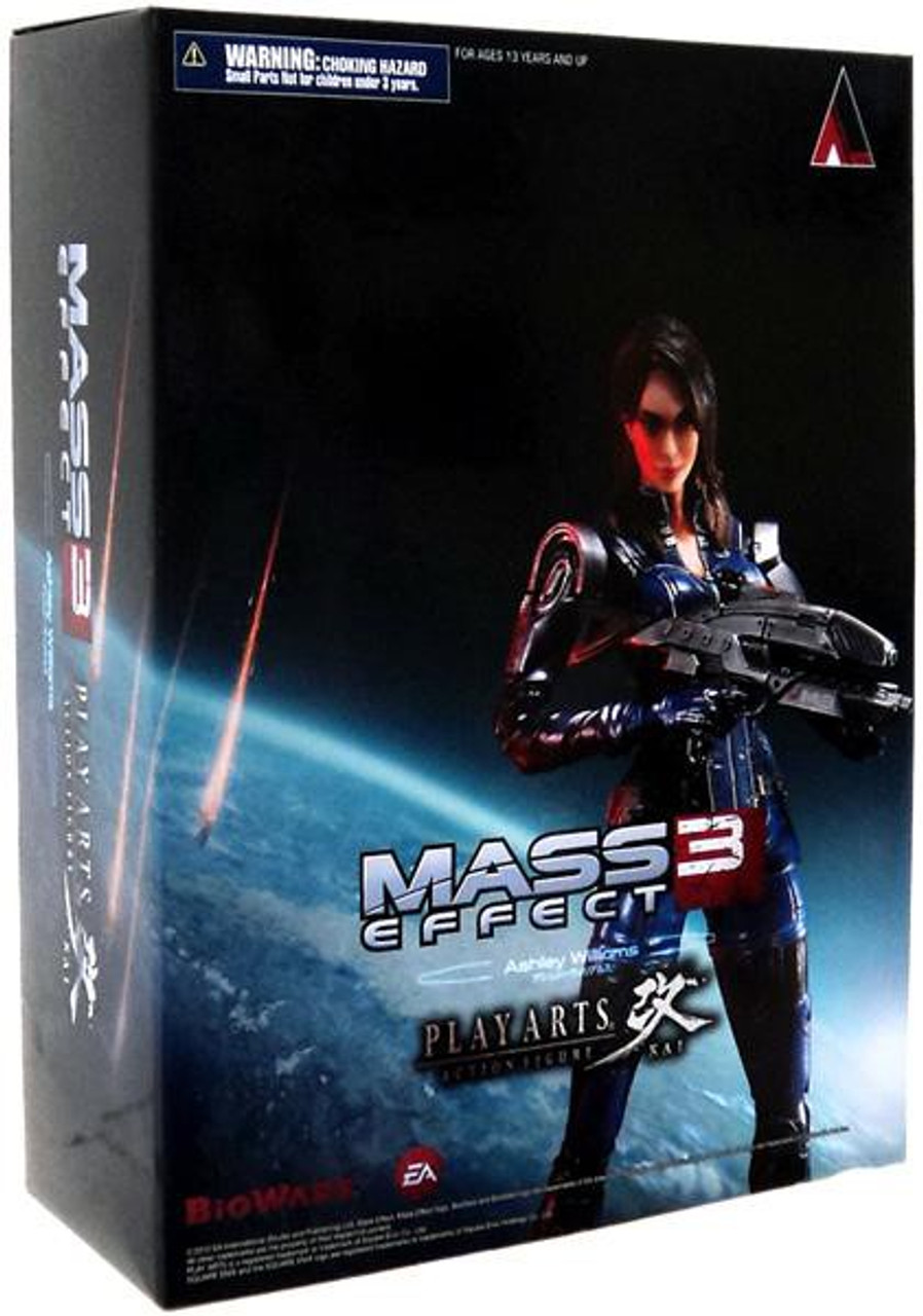 Mass Effect 3 Play Arts Kai Ashley Williams Action Figure