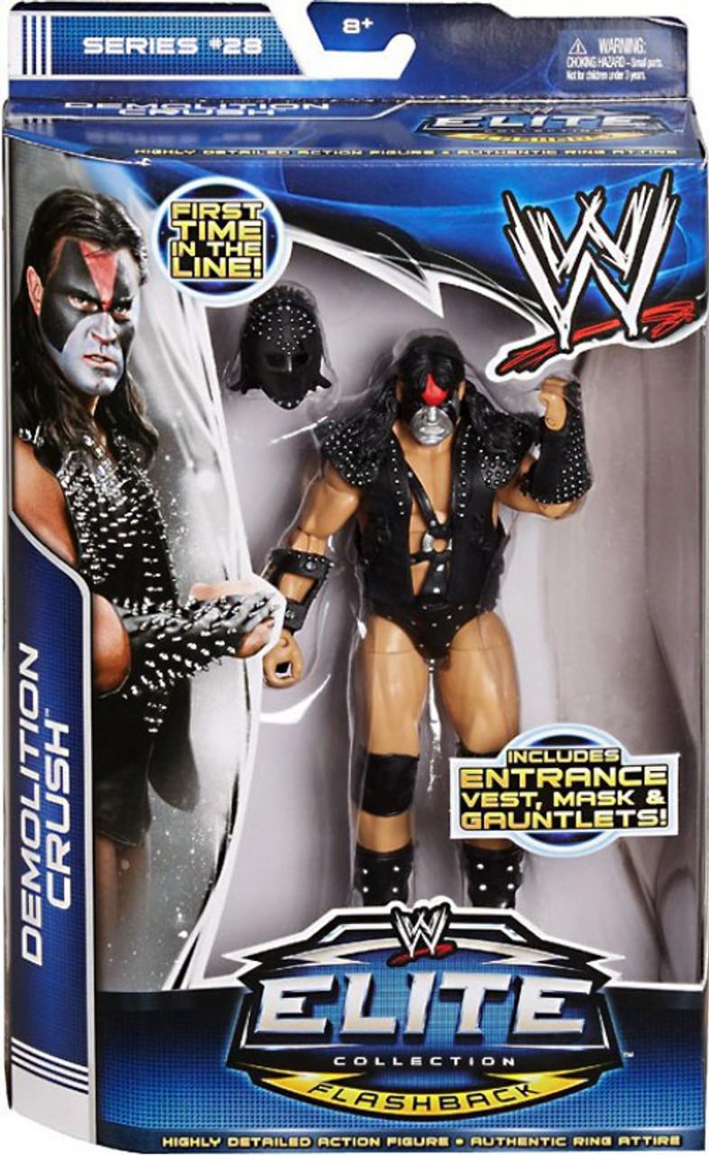 WWE Wrestling Elite Series 28 Demolition Crush Action Figure [Entrance Vest, Mask & Gauntlets]