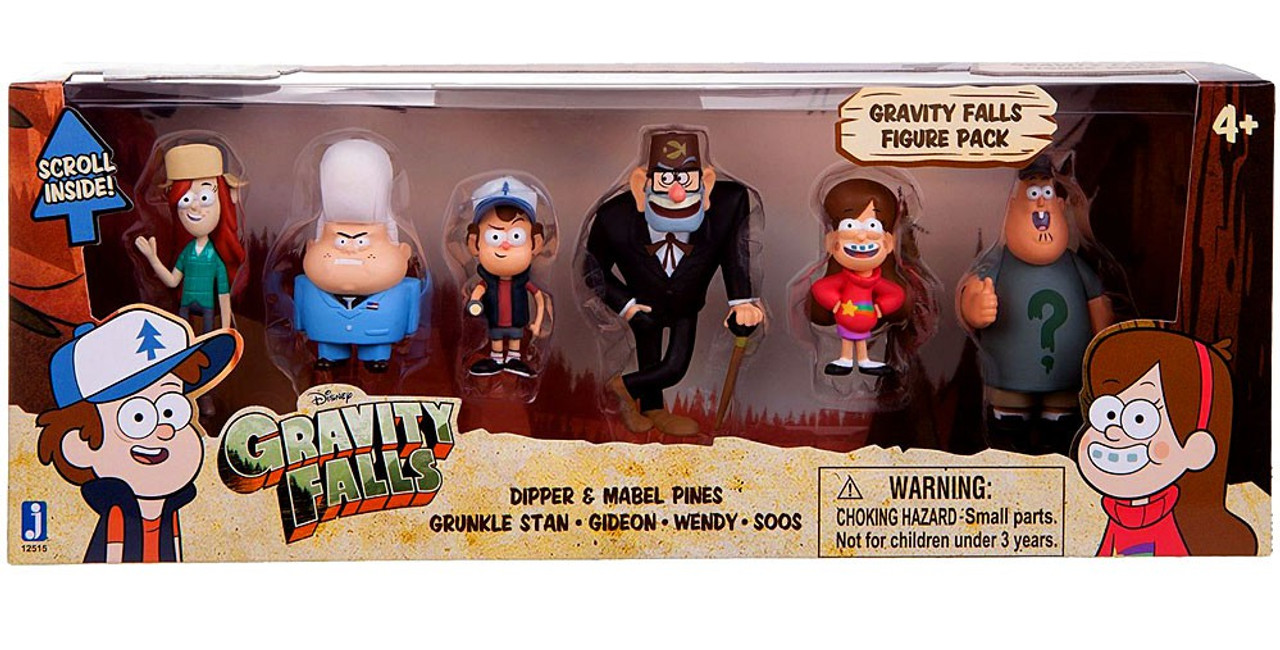 Disney Gravity Falls 2-Inch Mini Figure 6-Pack