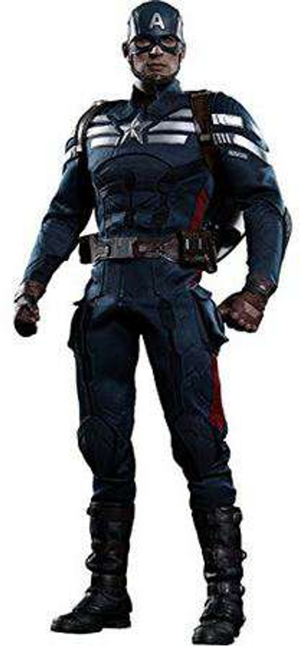 The Winter Soldier Movie Masterpiece Captain America 1/6 Collectible Figure [Stealth S.T.R.I.K.E. Suit]