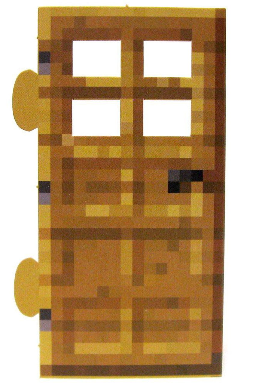 sc 1 st  ToyWiz.com & Minecraft Wood Door Papercraft Single Piece Jazwares - ToyWiz