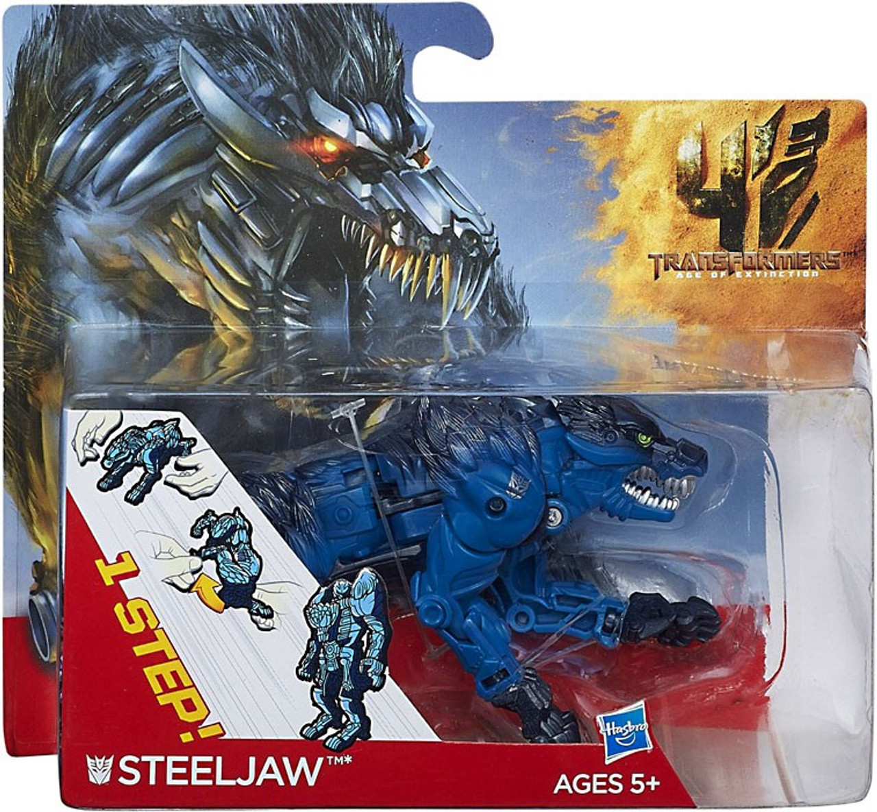 Transformers Age of Extinction 1 Step Changer Steeljaw Action Figure