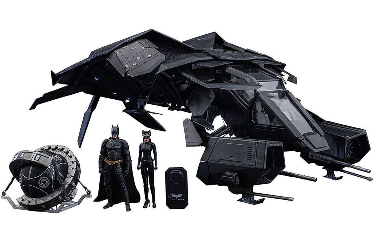 The Dark Knight Rises Movie Masterpiece Compact The Bat With Batman, Selina Kyle & Fusion Reactor Collectible Figure Set