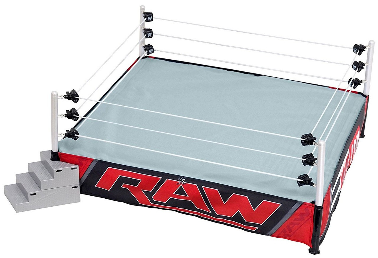 Raw Edition Wwe Authentic Scale Toy Wrestling Ring Playset
