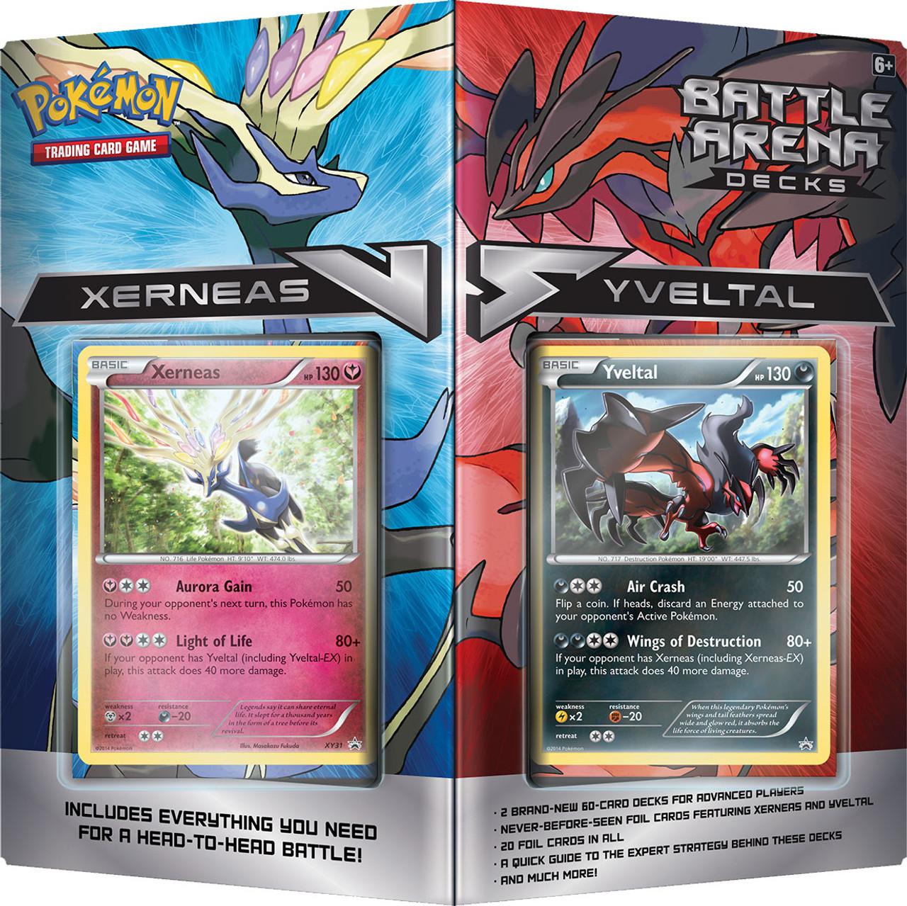 Pokemon XY Xerneas vs Yveltal 2-Player Battle Arena Decks Pokemon ...