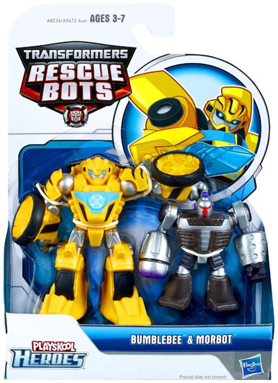 transformers rescue bots playskool heroes bumblebee morbot action