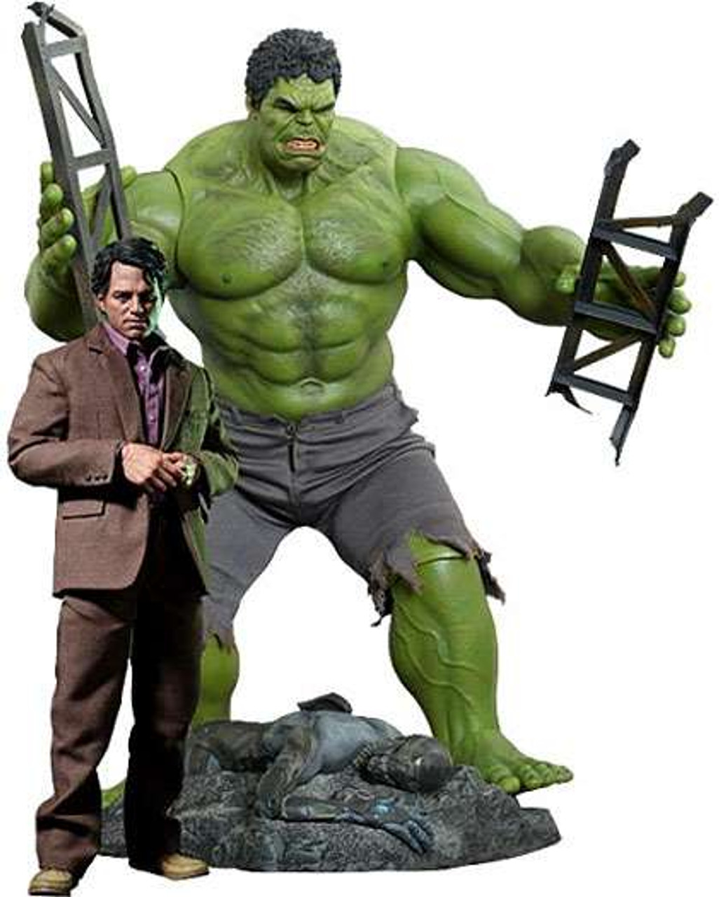 Marvel Avengers Movie Masterpiece Bruce Banner & Hulk 1/6 Collectible Figure