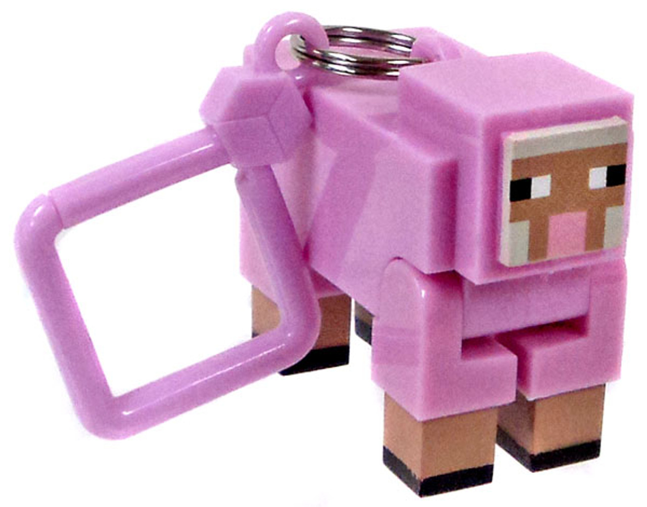 minecraft hangers series 1 pink sheep 3 keychain chase variant loose
