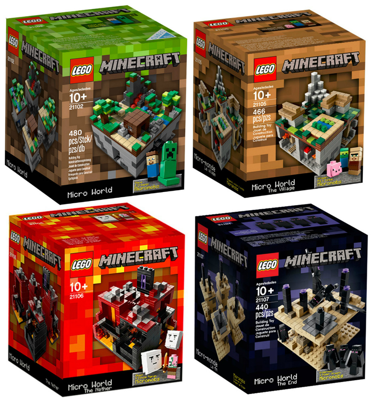 Lego Minecraft Collection 21102 21105 21106 21107 Toywiz 21134 The Waterfall Base