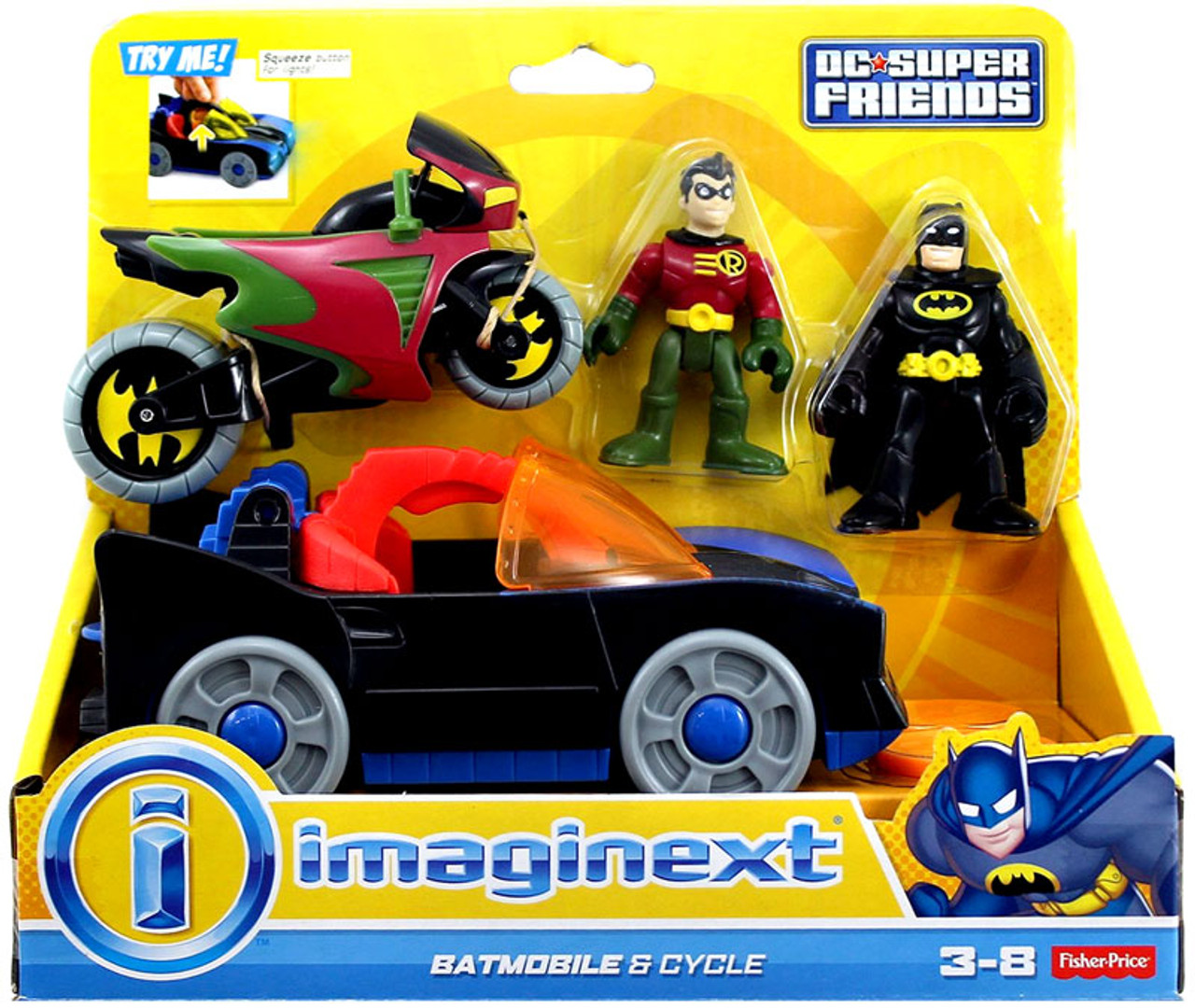Fisher Price Dc Super Friends Batman Imaginext Batmobile