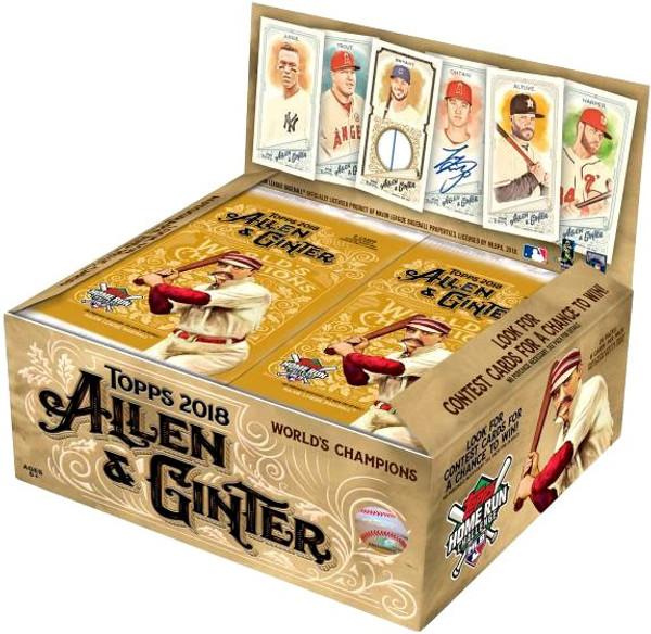 Mlb 2018 Allen Ginter Baseball Trading Card Retail Box 24 Packs
