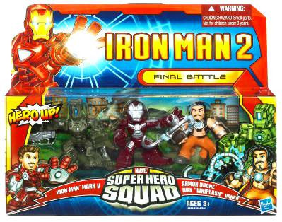 Hasbro Iron Man 2 Superhero Squad Final Battle Action Fig...