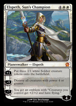 Wizards Of The Coast MtG Theros Mythic Rare Elspeth, Sun'...