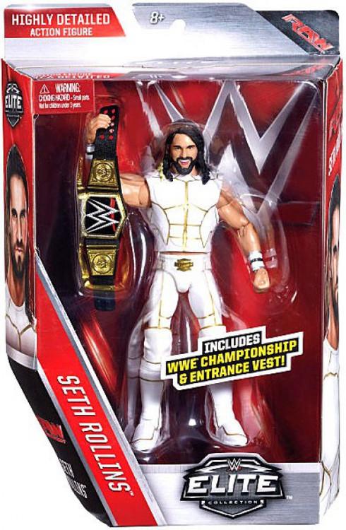 Is Saturday A Business Day For Ups >> WWE Wrestling Elite Series 45 Seth Rollins 6 Action Figure WWE Championship Entrance Vest Mattel ...