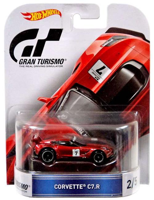 Mattel Hot Wheels Gran Turismo Corvette C7.R Die-Cast Car...