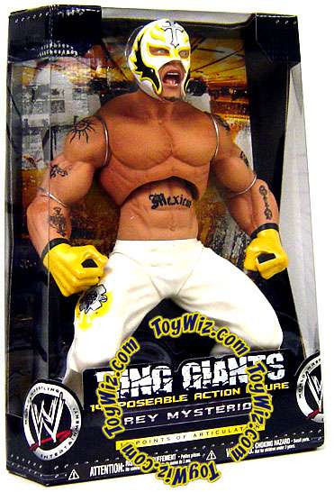 WWE Wrestling Ring Giants Series 4 Rey Mysterio Action Fi...