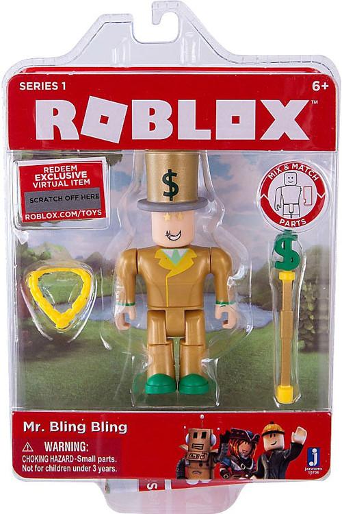 Roblox Mr Bling Bling 3 Action Figure Jazwares Toywiz