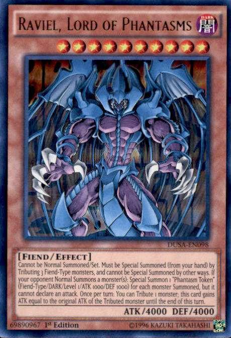 yugioh duelist saga single card ultra rare raviel  lord of