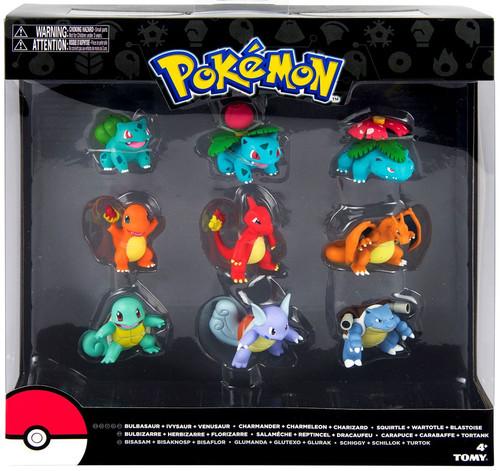 Pokemon evolution bulbasaur charmander squirtle figure 9 pack tomy toywiz - Pokemon evolution salameche ...