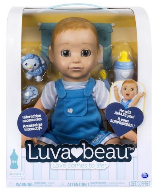 Luvabella Luvabeau Boy Exclusive Responsive Baby Doll Dark Blue