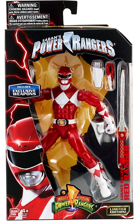 Bandai Power Rangers Mighty Morphin Legacy Red Ranger Act...