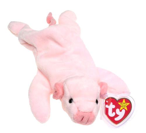 Beanie Babies Squealer the Pig Beanie Baby Plush