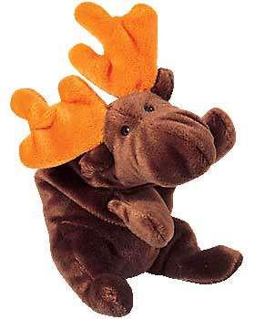 Beanie Babies Chocolate the Moose Beanie Baby Plush