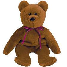 Beanie Babies Teddy the Brown Bear Beanie Baby Plush
