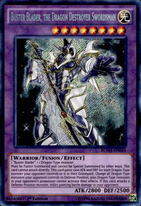 yugioh breakers of shadow single card secret rare buster blader the