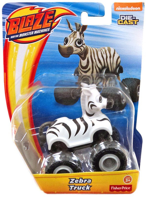 Fisher Price Blaze the Monster Machines Nickelodeon Zebra Truck Diecast Car - ToyWiz
