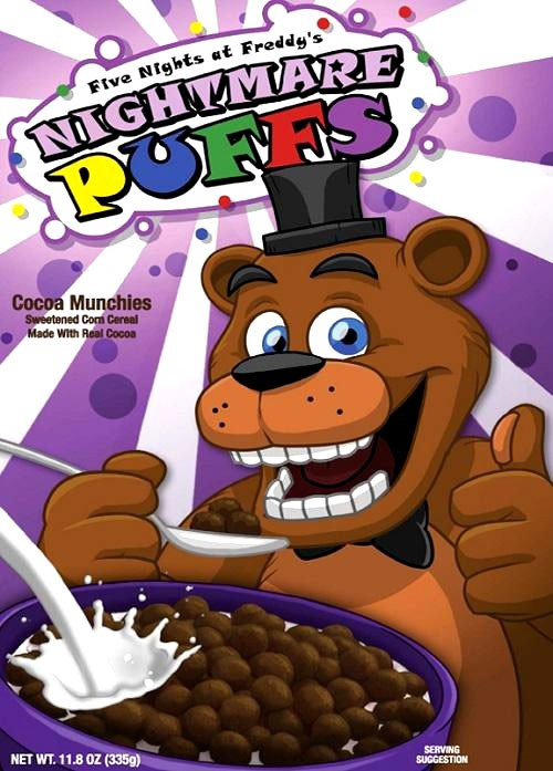 Five Nights At Freddys Nightmare Puffs Exclusive Breakfast
